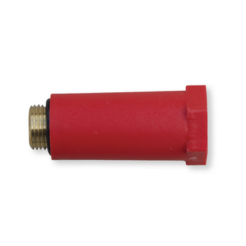Afdichtplug messing 15mm rood